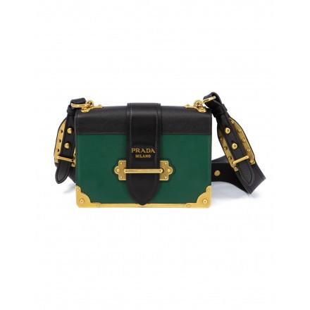 PRADA Cahier Schultertasche schwarz grün
