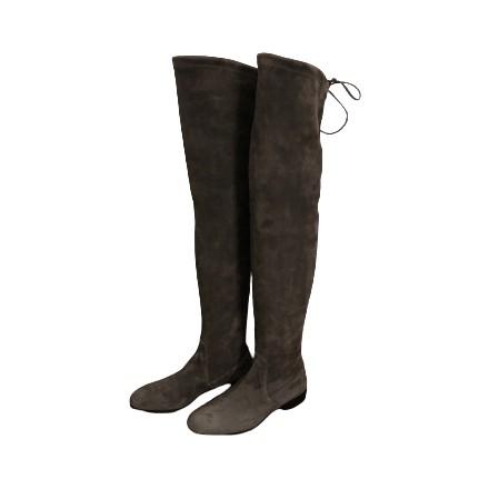 NAVYBOOT Overknee Stiefel Wildleder grau Gr. 36. Sehr guter Zustand