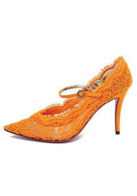 GUCCI Neon Pumps ORANGE Gr. 39.5. Zustand NEU.
