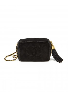 CHANEL CC Wildleder Tassle Camera Bag