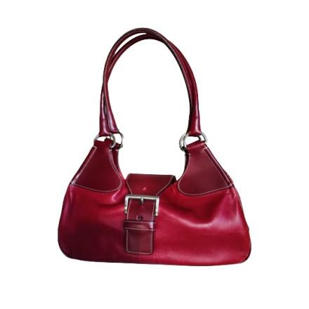 PRADA Lederhandtasche rot. Sehr guter Zustand