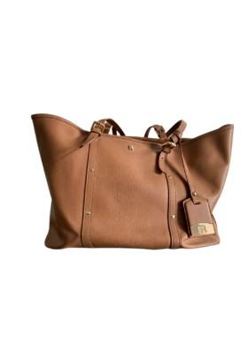 NAVYBOOT Handtasche Leder camel. Sehr guter Zustand