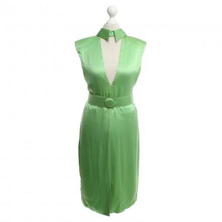 VERSACE Kleid Seide grün Gr. 36. Sehr guter Zustand