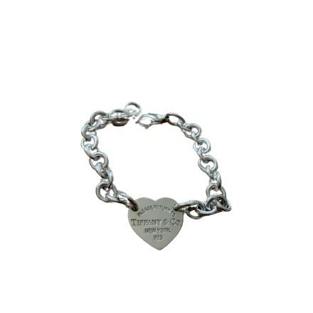 TIFFANY & CO. Return to Tiffany Armband 925er Silber. Akzeptabler Zustand