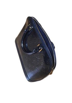 Louis Vuitton Alma PM. Blau. Guter Zustand.