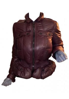 BURBERRY PRORSUM Lambskin Jacket Weinrot Gr. 36. Zustand NEU.