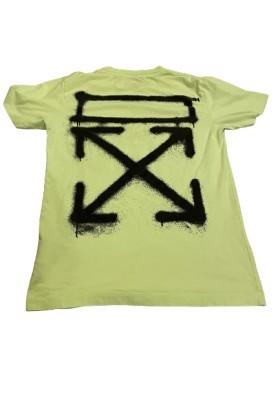 OFF-WHITE T-Shirt neon-grün Gr. S. Sehr guter Zustand