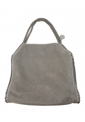 Falabella Shaggy Deer Small Tote Light Grey