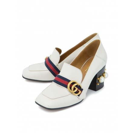 GUCCI GG Marmont Pearl Pumps weiss. Gr. 37. Sehr guter Zustand.