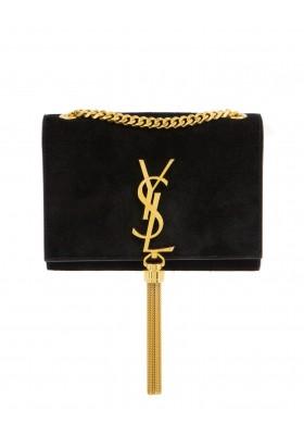 SAINT LAURENT KAte Tassel Bag Wildleder schwarz. Sehr guter Zustand