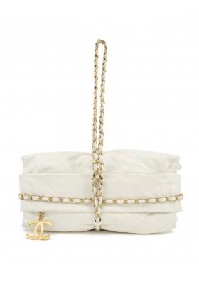 CHANEL Handtasche Leder ivory. Sehr guter Zustand