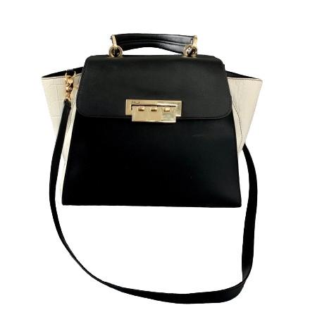 ZAC Posen Leather Handbag. schwarz weiss. Sehr guter Zustand