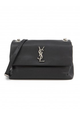SAINT LAURENT West Hollywood Medium Bag Grain de Poudre Leder schwarz. Sehr guter Zustand