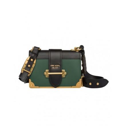 PRADA Cahier Bag grün. Sehr guter Zustand