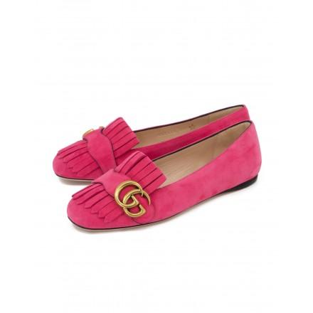 GUCCI GG Marmont Ballerinas Wildleder pink Gr. 35.5. Zustand NEU