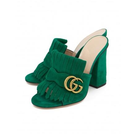 GUCCI GG Marmont Pumps Wildleder grün Gr. 35.5. Zustand NEU