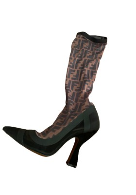 FENDI Colibri Logo Mesh Boots Gr. 36. Sehr guter Zustand