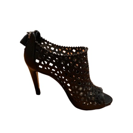 PRADA Sandalette Peep Toe Cut Outs Leder schwarz Gr. 36. Sehr guter Zustand