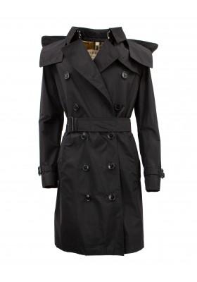 BURBERRY Trenchcoat Regenmantel mit Kapuze schwarz. Sehr guter Zustand.
