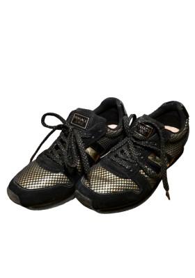 VERSACE JEANS Sneakers Mesh schwarz gold Gr. 37. Guter Zustand