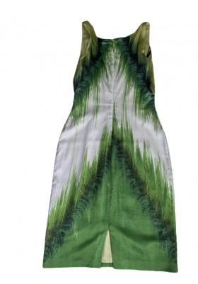 ROBERTO CAVALLI Sommerkleid grün. Gr. 42. Sehr guter Zustand.