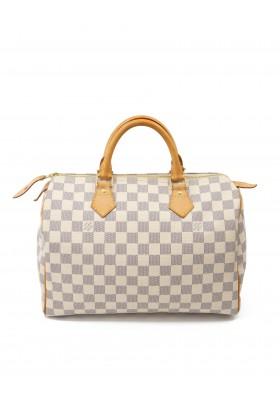 LOUIS VUITTON Speedy 30 Damier Azur Handtasche. Sehr guter Zustand.