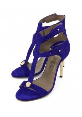 Versace Wildleder Highheel Sandale Lila NEU