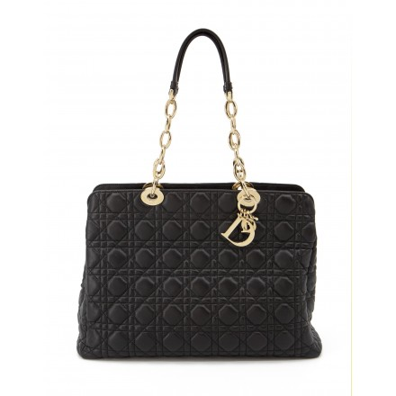 DIOR Cannage Large Soft Shopping Tote Bag schwarz. Sehr guter Zustand.
