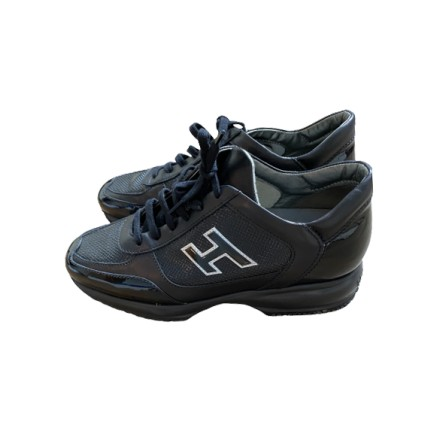 HOGAN Sneakers Interaktive H Vernicata Leder schwarz Gr. 39.5. Sehr guter Zustand