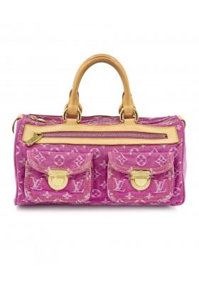 LOUIS VUITTON Neo Speedy Denim Bag. Pink. Sehr guter Zustand.