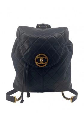 CHANEL Timeless Backpack Rucksack. SCHWARZ. Guter Zustand.