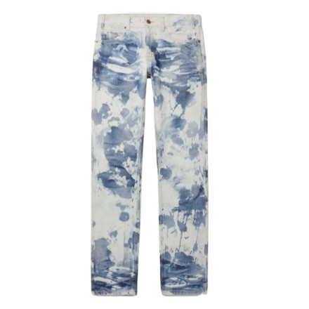 CELINE Jeans Damen 2021 Batiklook blau-weiss Gr. 27. NEU mit Etikett