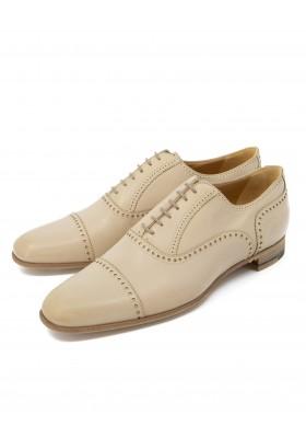 HERMÈS Budapester Schuhe Leder beige Gr. 39.5. Zustand NEU