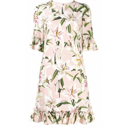 Lily Print Ruffle Dress