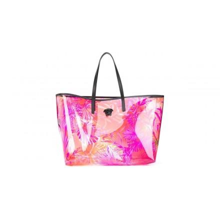 VERSACE Transparent Jungle Print Tote Bag. Pink. Sehr guter Zustand.