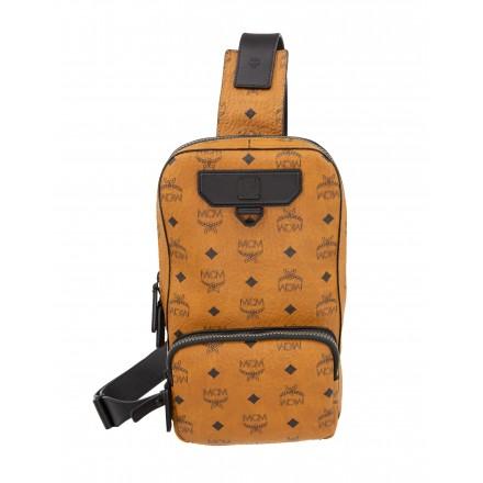MCM Nomad Sling Bag Backpack Rucksack Visetos Canvas cognac small. Sehr guter Zustand