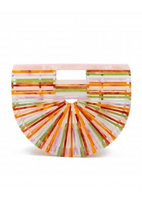 CULT GAIA Ark Handtasche Acryl multicolor perlglanz. Sehr guter Zustand