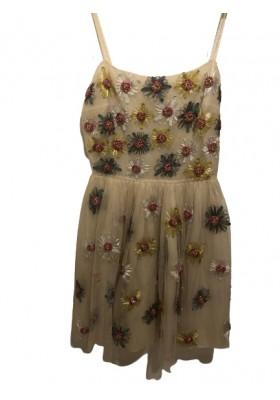 RED VALENTINO Kleid. Beige. Gr. 40. Sehr guter Zustand.