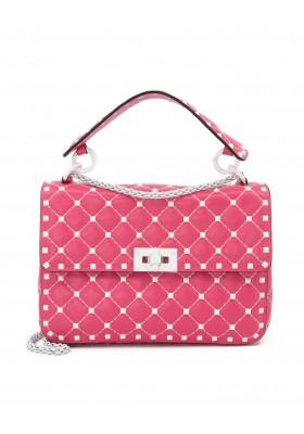 VALENTINO GARAVANI Rockstud Spike Medium Handtasche Nappaleder rosa. Sehr guter Zustand