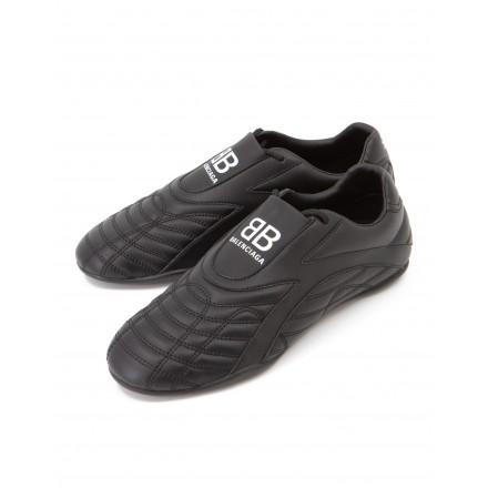 BALENCIAGA Zen Sneaker Leder schwarz Gr. 38. Zustand NEU