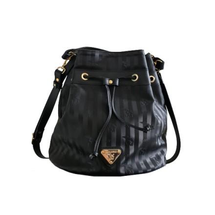 MOLLERUS Niesen Bucket Bag Vinerus Canvas & Leder schwarz. Sehr guter ZUstand