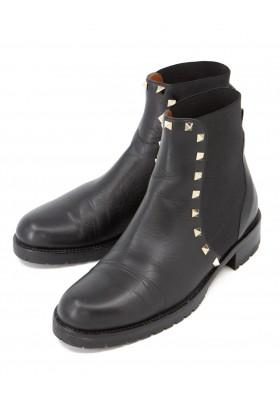 VALENTINO GARAVANI Rockstud Chelsea Boots Leder schwarz Gr. 38. Sehr guter Zustand