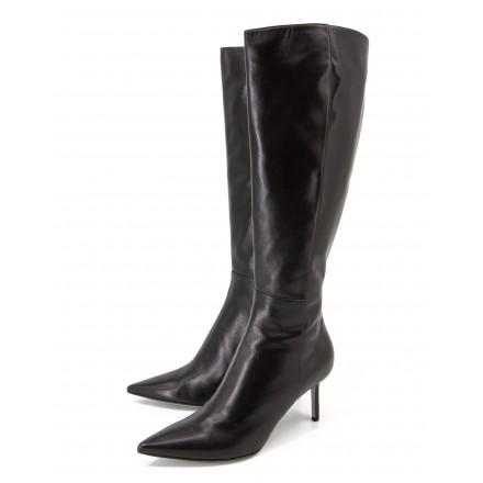 SERGIO ROSSI Stiefel mit Absatz Leder schwarz Gr. 40.5. Zustand NEU