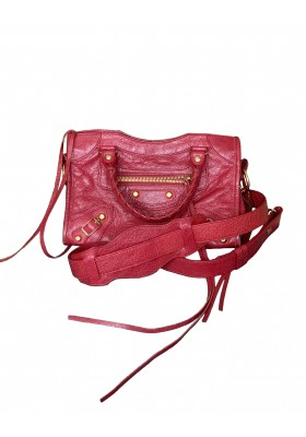BALENCIAGA City Bag Mini Leder rot. Sehr guter Zustand