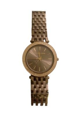 MICHAEL KORS Armbanduhr MK-3416 Edelstahl goldfarben mit Swarovskisteinen. Sehr guter Zustand