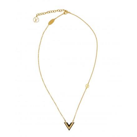 LOUIS VUITTON Essential V Halskette M63181 Modeschmuck goldfarben. Sehr guter Zustand