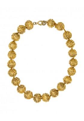 CHANEL Halskette Kugelelemente vintage Modeschmuck goldfarben. Guter Zustand