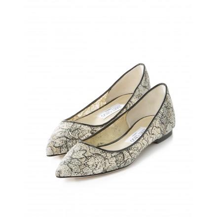 Flache Schuhe in Laceoptik