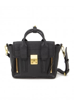 3.1 PHILLIP LIM Pashli Mini Satchel Bag Leder schwarz. Guter Zustand