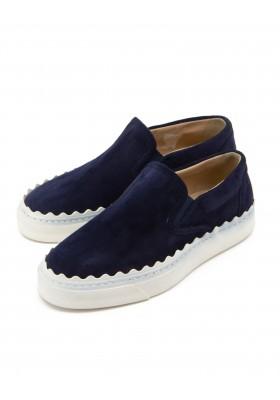 CHLOÉ Lauren Sneakers Wildleder navy blau Gr. 36. Zustand NEU
